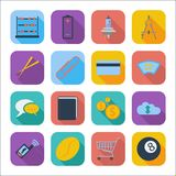 Color flat icons 6 Stock Image