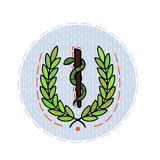 Color flat illustration dedicated to the day of health. Royalty Free Stock Photo