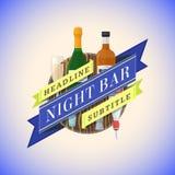 Color flat night bar emblem template Stock Photo
