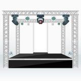 Color flat stage scenes back lights truss illustration Stock Images