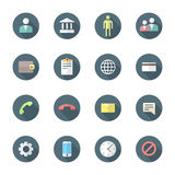 Color flat style various social network icons set Royalty Free Stock Photos