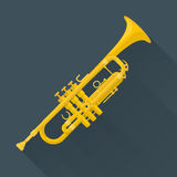 Color flat style vector trumpet Royalty Free Stock Photos