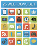 Color flat web icons set Royalty Free Stock Images
