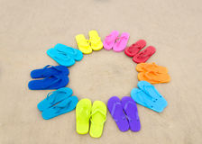 Color flip flops Stock Image