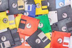 Color floppy discs Royalty Free Stock Photography