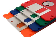 Color floppy disk royalty free stock photos
