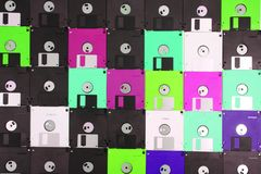 Floppy discs background. Color floppy disks as nice technology backround Royalty Free Stock Photos
