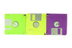 Color floppy disks Stock Images