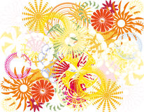 Color floral background. Illustration of Color floral background Royalty Free Stock Photography