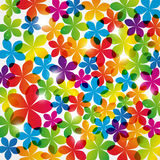 Rainbow floral background with lights Royalty Free Stock Photography