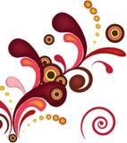 Color  floral Burst background Stock Images