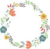 Color floral frame for wedding invitation design Stock Images