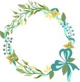 Color floral frame for wedding invitation design Royalty Free Stock Image
