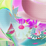 Color floral pattern Stock Photography