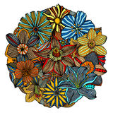 Color floral pattern Royalty Free Stock Images