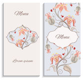 Color floral vintage ornament menu Stock Image