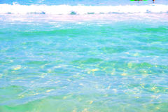 Color of Florida. Clear water with a light green tint on the beach royalty free stock image