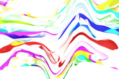 Color flow wallpaper. On white background Stock Photography