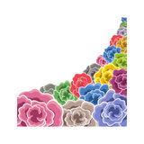 Color flower border. Artistic vector illustration royalty free illustration