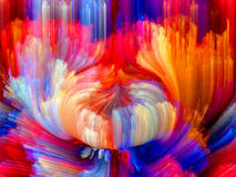 Color Flower. Colors In Bloom series. Abstract design made of fractal color textures on the subject of imagination, creativity and design stock illustration