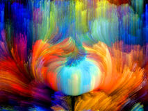 Color Flower. Colors In Bloom series. Design made of fractal color textures to serve as backdrop for projects related to imagination, creativity and design Royalty Free Stock Images