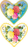 Color flower hearts Royalty Free Stock Photos