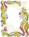 Color flower pattern Stock Images