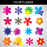 Color flower pattern Stock Image