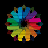 Color flower wheel background concept Stock Photography