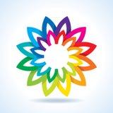 Color flower wheel background concept Stock Photos