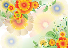 Color flowers background2 Stock Photo