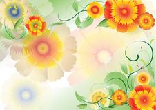 Color flowers background3 Stock Images