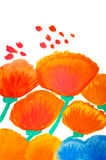 Color flowers in watercolor hand painted Royalty Free Stock Images