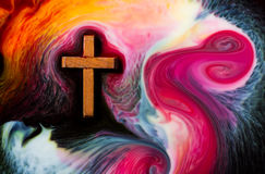 Color flowing Cross Stock Photography