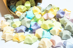 Color of folded star papers Royalty Free Stock Photography