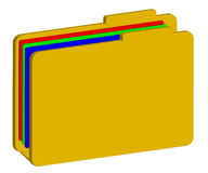 Color folder 3d Royalty Free Stock Photo