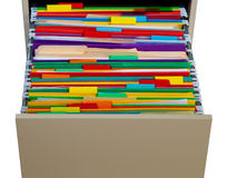 Color Folders Royalty Free Stock Photography