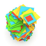 Color folders Royalty Free Stock Photos