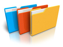 Color folders royalty free illustration