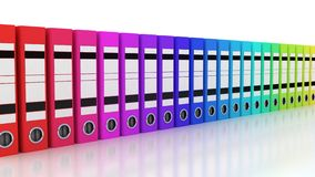 Color folders for documents Royalty Free Stock Image