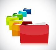 Color folders illustration design Royalty Free Stock Photos