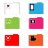 Color folders on white background. Vector illustration Royalty Free Stock Photography