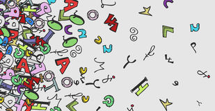 Color font art background Stock Image
