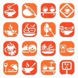 Color food icons Royalty Free Stock Image