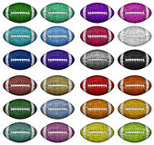 Color Footballs Royalty Free Stock Photography