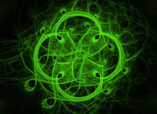 Color fractal green clover background Royalty Free Stock Photos
