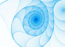 Color fractal spiral background Royalty Free Stock Image