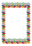 Color frame with carnival masks. Raster clip art. Royalty Free Stock Images