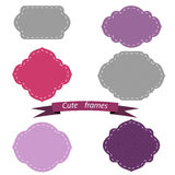 Color frame and label set. Vector illustration Royalty Free Stock Photography