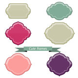 Color frame and label set Royalty Free Stock Image